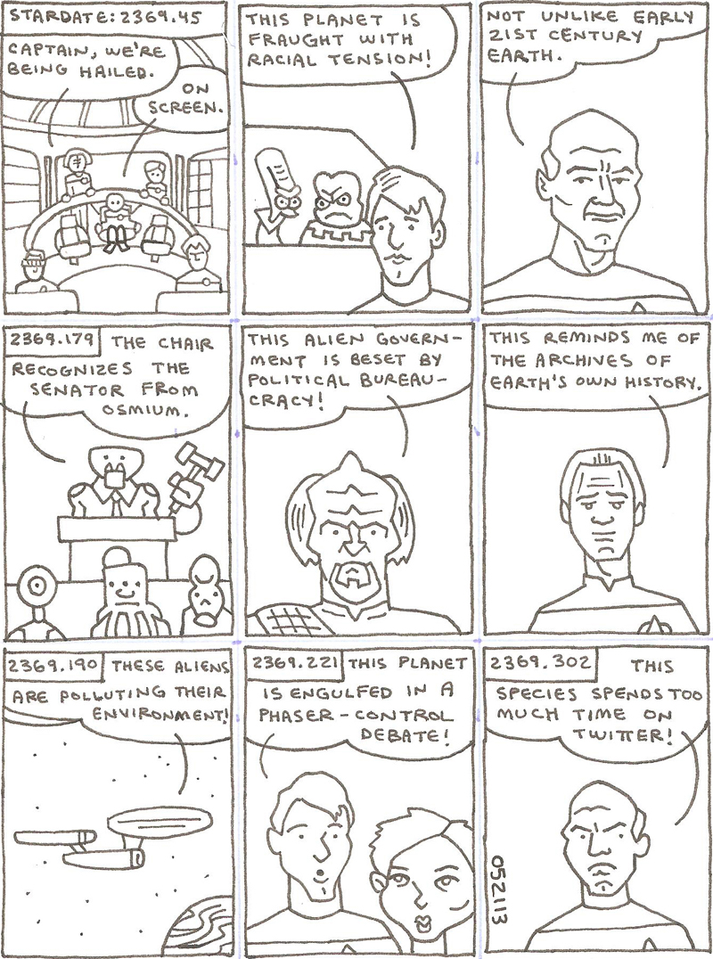 star trek parody comics #1