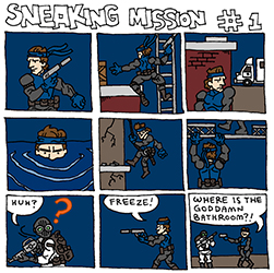 sneaking mission comics #1