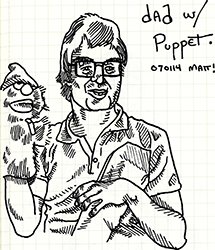 dad with puppet